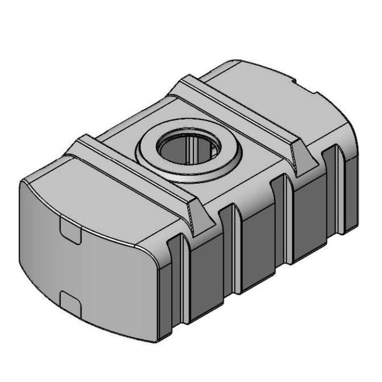 Прямоугольная горизонтальная ёмкость SK-850E